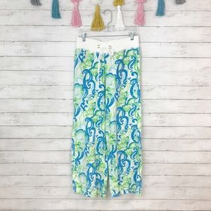 Lilly Pulitzer Linen Beach Pants in Crystal Coast